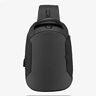 PANFU-AU Water Resistant School Bag for Boys Fits 10 Inch Computer Notebook Daypack for Work College Men Women Travel Laptop Backpack Business Large Rucksack with USB Charging Port