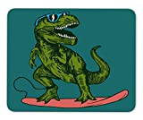 ABin Happy Dinosaur Surfer Wearing Sunglasses Drawing Mouse pad Gaming Mouse pad mice pad Mouse pad The Office mat Mousepad Nonslip Rubber Backing