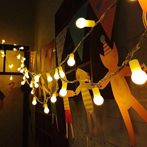 Uping Guirnalda Luminosa Decorativa de 100 Bombillas 12 m Cadena de Luces Blanco Cálido para Navidad Fiestas Bodas Jardín Uso [Clase de eficiencia energética A+++]