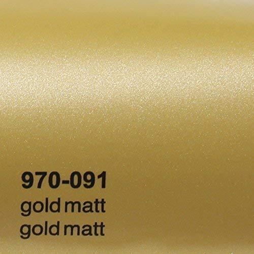 20,72€/m² Oracal 970RA 091 Gold Matt gegossene Profi Autofolie 152cm breit BLASENFREI mit Luftkanäle