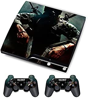 Designer Skin for Sony PS3 Slim Console System Plus Two(2) Free Decals For: Playstation 3 Dualshock Controller Call of Duty