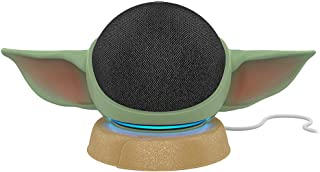 All-new Echo Dot (4th Gen) Charcoal with All New, Made for Amazon, featuring The Mandalorian Baby GroguTM-inspired Stand f...