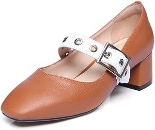 Nine Seven Women's Leather SquareToe Maryjane Pump