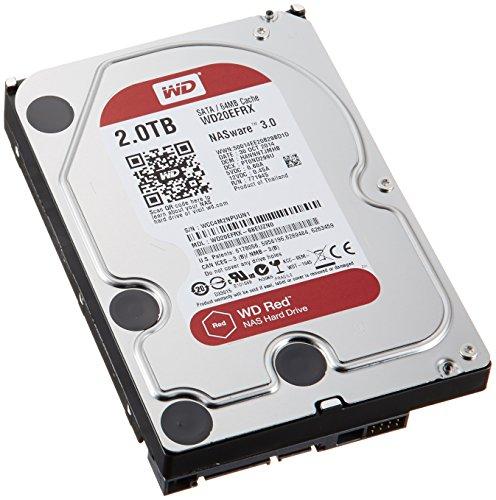 WD HDD 内蔵ハードディスク 3.5インチ 2TB WD Red NAS用 WD20EFRX SATA3.0 5400rpm 3年保証