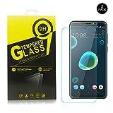 HTC Desire 12 Plus Protector de pantalla,Libre de burbujas/Dureza 9H/Fácil instalación /HD Clear,2.5D Protector de pantalla de vidrio templado para HTC Desire 12 Plus [2 Unidades]