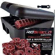 Roshield External Tamper Proof Rodent Boxes & Wax Bait Rat Killer Poison Block Kit (1 Box & 300g Blocks)