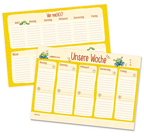 Kita-Planer Wochenplaner Block A4 zum Abreißen für Erzieherinnen und Erzieher   To-Doapos;s, Aufgabenverteilung, Notizen und mehr - nachhaltig & klimaneutral