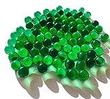 Fairy Tail & Glitzer Fee - Canicas de cristal, verde claro aprox. 95 canicas de 16 mm, bolas de cristal, para relleno de jarrones, transparentes, cuencos decorativos, jugar a las canicas