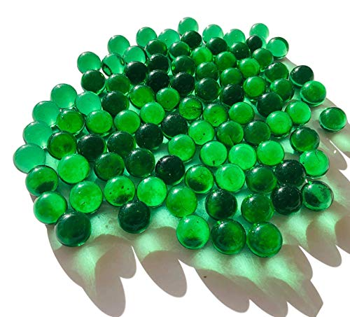 FAIRY TAIL & GLITZER FEE Glasmurmeln Grün Klar ca. 95 Murmeln 16mm Glas-Kugeln Murmel Vasen-Füllungen transparent Murmeln Dekoschalen Murmelspiel Glas