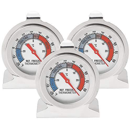 Herefun Termometro da Frigorifero, Termometro Digitale per Testare Frigorifero, Frigorifero, Termometro Congelatore, Piccolo Tondo, Termometro Preciso, Qualità di Sicurezza (3)
