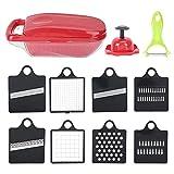 Utensile da cucina per taglierine multifunzione da 8 pezzi in acciaio inossidabile 420 per la lavorazione degli ingredienti