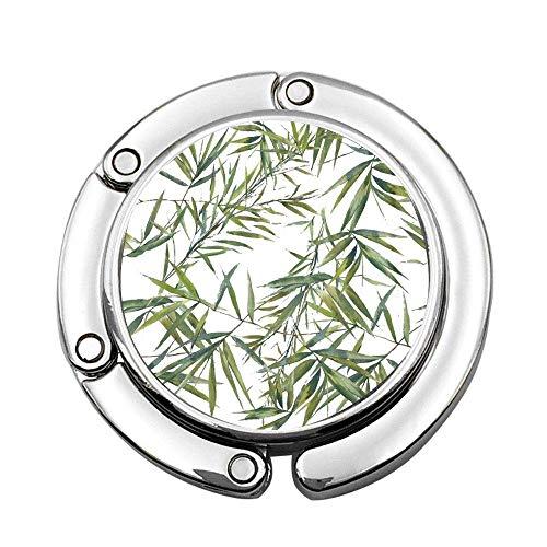 Colorido Dibujo Acuarela de Hojas de bambú en Blanco Verde botánico Tropical árbol Planta Vintage Hibisco Personalizado