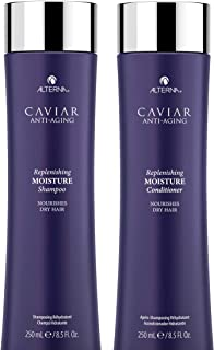 CAVIAR Anti Aging Replenishing Moisture Shampoo and Conditioner Set, 8.5 Ounce (Packaging May Vary)