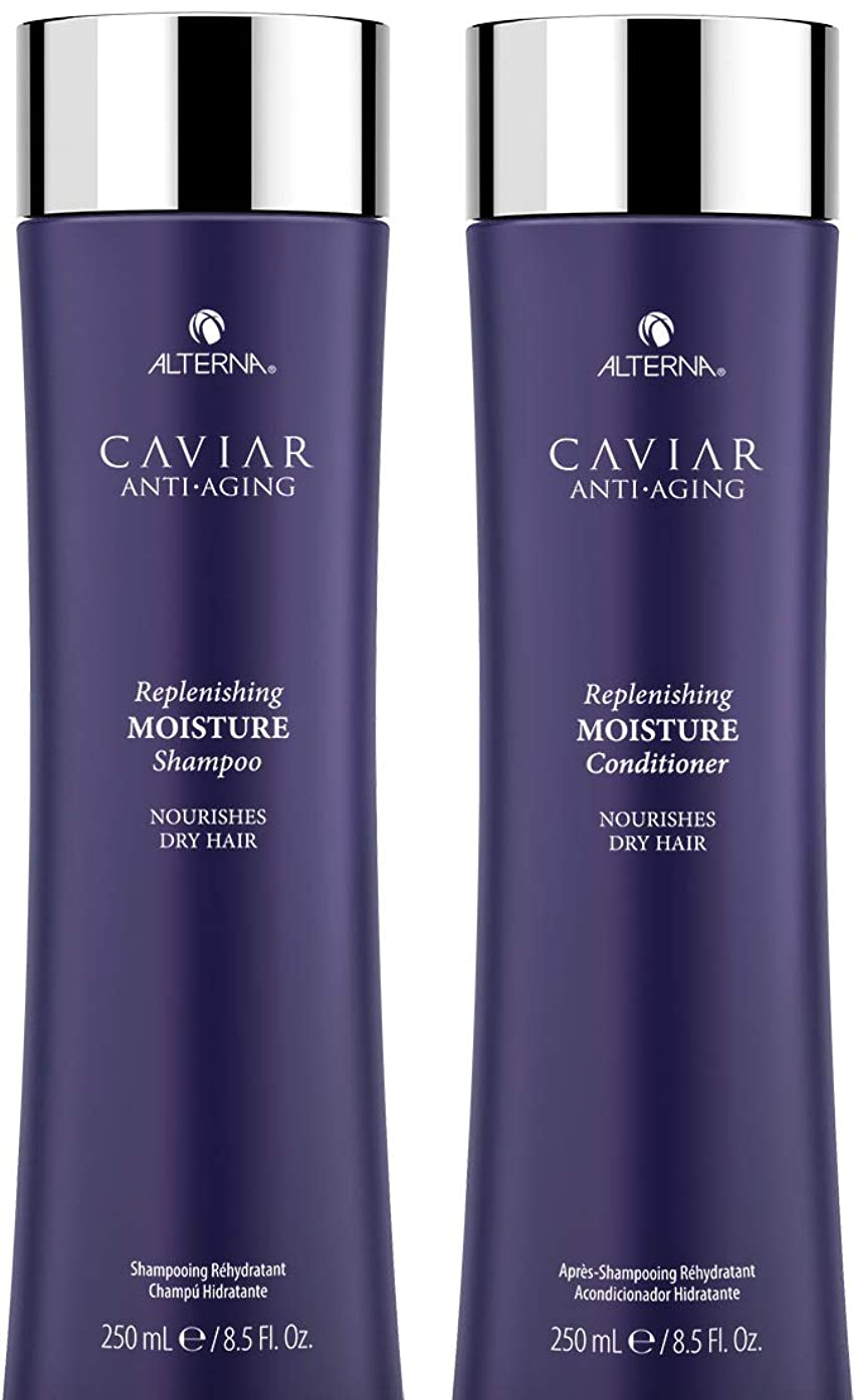 CAVIAR Anti-Aging Replenishing Moisture Shampoo and Conditioner Set, 8.5-Ounce (Packaging May Vary)