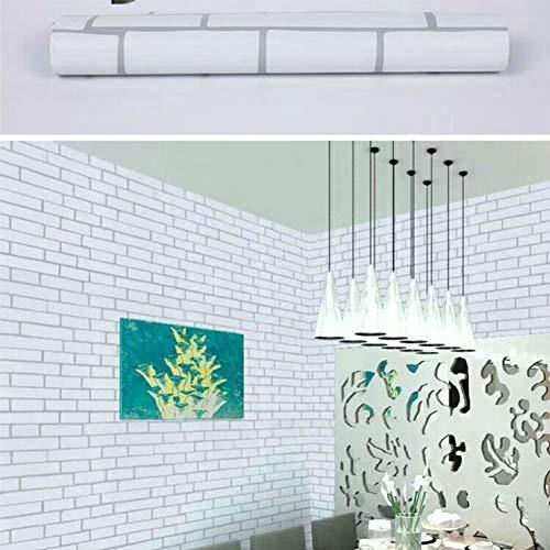GE&YOBBY zelfklevende baksteen behang, Diy open haard behang 3D effect blokken vintage huisdecoratie gebruiken als contactpapier, gemakkelijk verwijderbaar behang 0.1mm dik