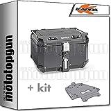 kappa maleta kfr480b k'force 48 lt + portaequipaje aluminio monokey compatible con bmw r 1200 gs 2009 09 2010 10