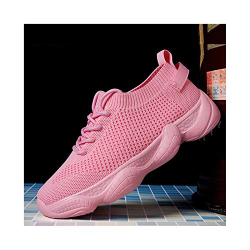 Zapatillas para Correr Zapatillas para Hombre para Mujer Zapatillas Deportivas Ligeras para Exteriores Gimnasio Atlético Fitness Caminar Correr Caminar Zapatillas de Deporte Casuales,Pink-36