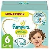 Pampers Baby Windeln Größe 6 (13-18kg) Premium Protection, 120 Stück, MONATSBOX