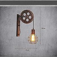 KMMK Lámpara de pared para decoración del hogar, lámparas de decoración del restaurante del hotel Café, lámpara de pared para iluminación del hotel en el hogar, apliques de pared industriales de époc