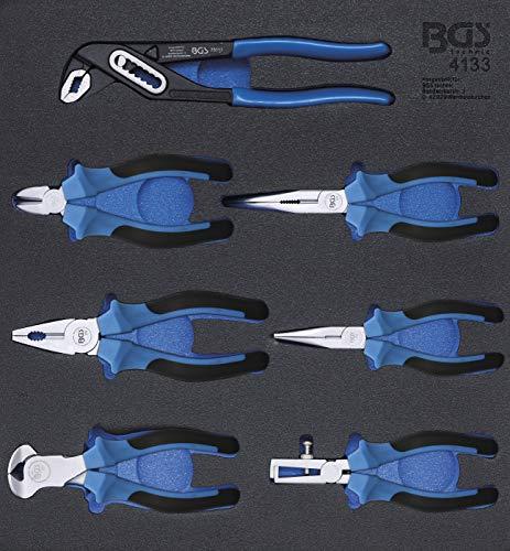 BGS 4133 | Bandeja para carro 2/3: Juego de alicates | 7 piezas