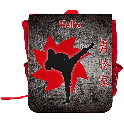 Kinder-Rucksack mit Namen Felix und Ninja-Motiv für Jungen   Rucksack   Backpack