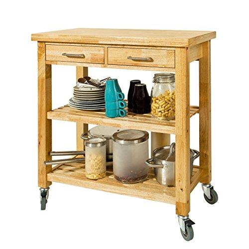 SoBuy® Carrito de server, Estantería de cocina, Carro de cocina,FKW24-N (naturaleza /80 * 40 * 90cm),ES