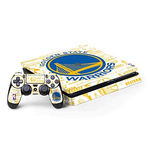 Skinit Decal Gaming Skin for PS4 Slim Bundle - Officially Licensed NBA Golden State Warriors Historic Blast Design