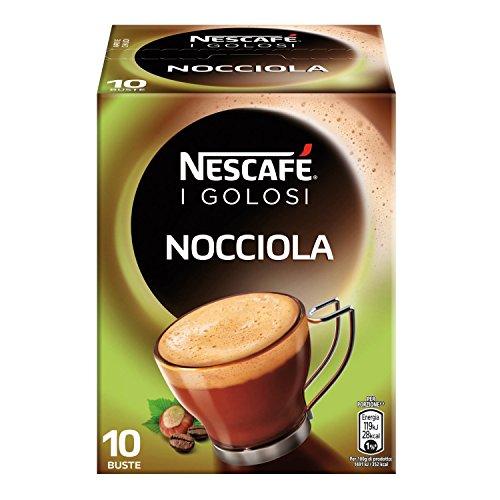Nescafé Gold Preparato Solubile per Caffè alla Nocciola, Astuccio, 10 Bustine, 80 g