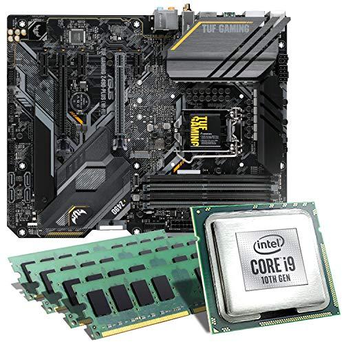 Intel Core i9-10850K / ASUS TUF Z490-PLUS Gaming WiFi Mainboard Bundle / 64GB | CSL PC Aufrüstkit | Intel Core i9-10850K 10x 3600 MHz, 64GB DDR4-RAM, GigLAN, USB 3.2 | Aufrüstset | PC Tuning Kit