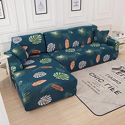 WXQY Funda de sofá elástica para Sala de Estar Funda de sofá Antideslizante con Todo Incluido Funda de Toalla de sofá de Esquina en Forma de L elástica A10 1 Plaza