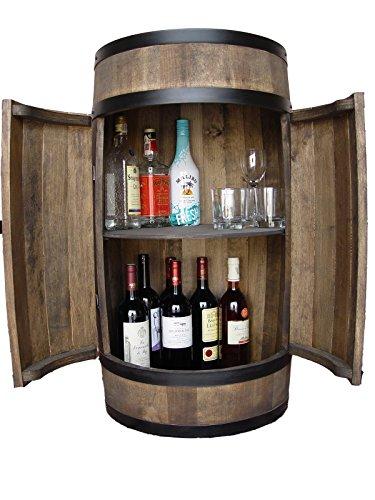 weeco Fassbar mit Tür, Handgemacht Holzfass, Fassregal 81 cm - Hersteller