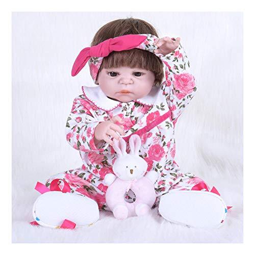 RangYR Ayuda Memoria Renacimiento muñeca simulación bebé Amazon Silicona Completa muñeca de plástico 22