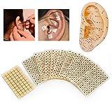 DERCLIVE Semillas de Oído Pegatinas de Masaje de Orejas 600Pcs Kit de Acupuntura de Semillas de Prensa de Orejas para La Pérdida de Peso de Acupuntura Semillas de Orejas Cuidado de La Salud Claro