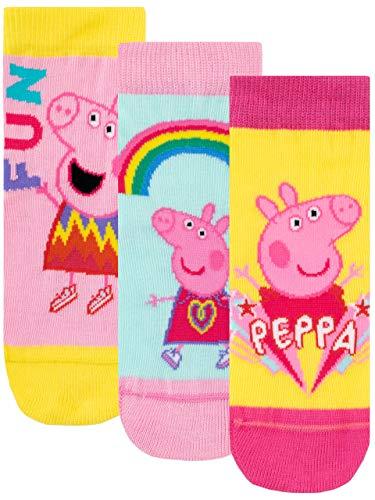 Peppa Wutz Mädchen Socken Packung mit 3 Paar Paar Mehrfarbig 27/30