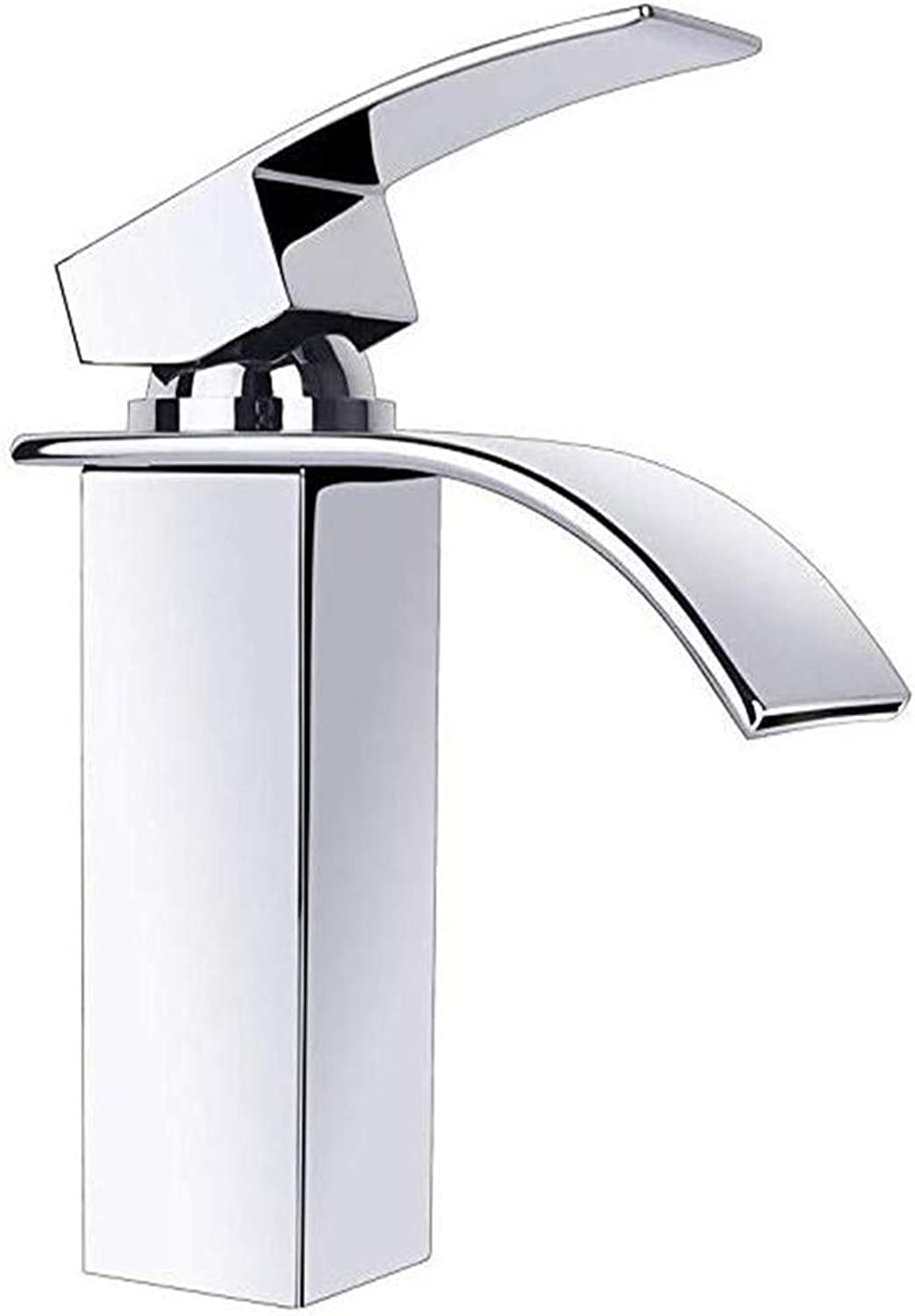Oudan Faucet Basin Faucet Kitchen Faucetbathroom Sink Tapchrome Tap Waterfall Bathroom Mixer Tap Wash Basin Bathroom Tap Waterfall Tap Single-Lever Mixer Tap (color   -, Size   -)