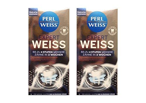 2x Expert ZC Weiss-Zahnweiss, 50 ml Zahnpasta Zahncreme Zahnweiß PERLWEISS