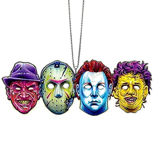 TangYang Halloween Film d'horreur Suspendu Ornement de Voiture, Pendentif GNOME d'horreur d'halloween, décor de Festival de rétroviseur de Voiture de Film d'horreur créatif d'halloween
