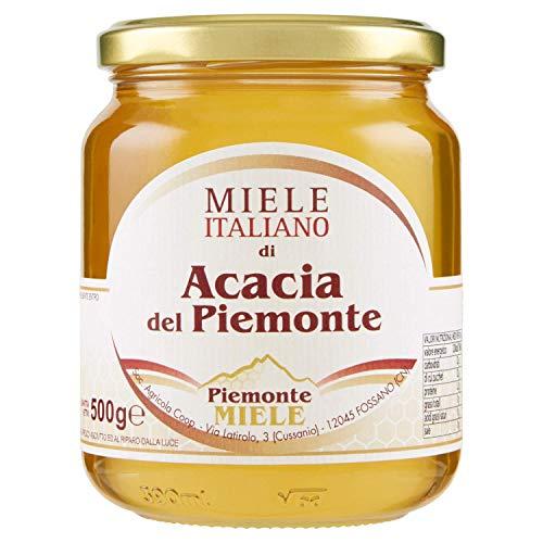 Piemonte Miele Miele Italiano di Acacia del Piemonte 500 g (5 confezioni)