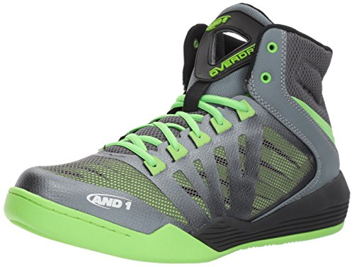 AND 1 Zapatillas de baloncesto Overdrive para hombre, gris (Castlerock/Gris/Jazmín), 44 EU