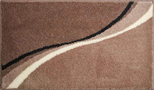 Grund Badteppich 100% Polyacryl, ultra soft, rutschfest,  LUCA, Badematte 70x120 cm, taupe