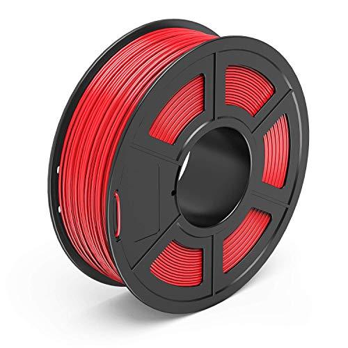 AnKun PETG Filament 1.75mm Red 3D Printer Filament, 1kg Spool 3D Printing Material, Dimensional Accuracy +/- 0.02 mm