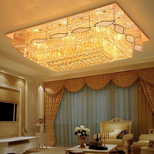 DENGJU LED-Decken-Lampe Luxuxquadrat-Wohnzimmer-Luft-Raum-Deckenlampen (tragendes LED-Flecken-Licht, tragen Nicht E14 Lichtquelle) (größe : B)