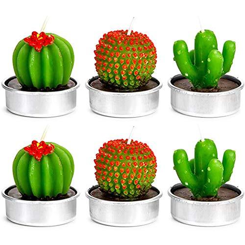 NANAOUS Bougie chauffe-plat en forme de cactus, fait à la main délicate bougies pour la maison, pour une fête d'anniversaire, un mariage, la méditation pour Noël (n° 2)
