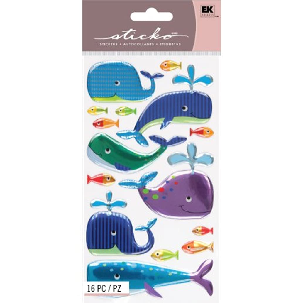 Sticko Sparkler Classic Stickers, Happy Whales