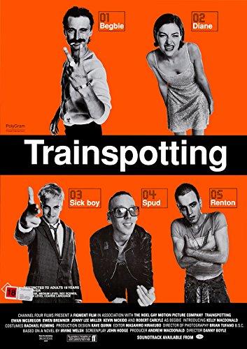 Póster de la película CoolPrintsUK Trainspotting sin bordes vibrantes, varios tamaños, Papel brillante/Papel, A3 Size 16.5 x 11.7 Inch / 420 x 297 mm.