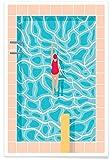 "JUNIQE® Schwimmen Poster 60x90cm - Design ""Pool"""