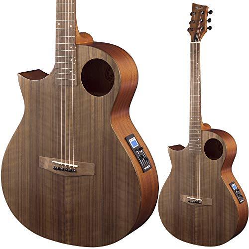 Lindo Neptune SE V2 - Guitarra electroacústica para zurdos, color negro nogal con preamplificador y bolsa acolchada