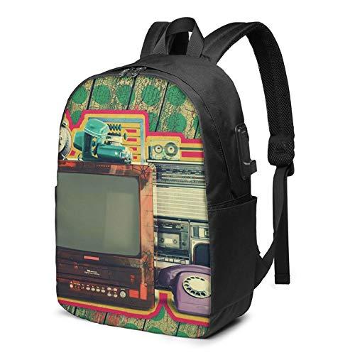 WEQDUJG Mochila Portatil 17 Pulgadas Mochila Hombre Mujer con Puerto USB, Casa Mochila para El Laptop para Ordenador del Trabajo Viaje