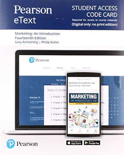Pearson eText for Marketing: An Introduction -- Access Card