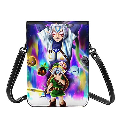 Juego de dibujos animados Legend of Zelda Crossbody Bolsos ligeros pequeos pasaporte monedero de cuero para mujer bolsa de playa de viaje